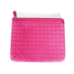 Coach logo tablet case in Hot Pink.